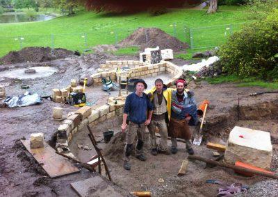während der Bauarbeiten am Wasserspielplatz Bürgerpark