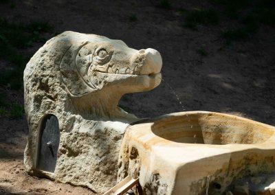 Wasserspeier Krokodil