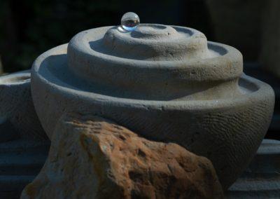 Murmelstein mit Glasmurmel