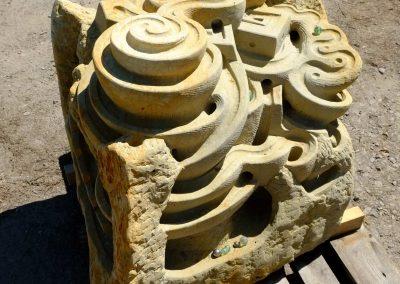 Murmelbahn für Kindergärten, Skulptur zum bespielen aus Sandstein, zum aufstellen im Außengelände