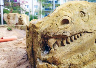 Wasserspeier-mit-Stöpsel-Dinosaurier
