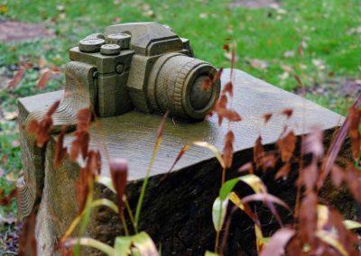 Grabstein mit Kamera
