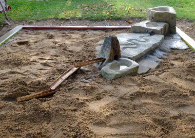 kleine Wasserspielanlage für Kindergärten