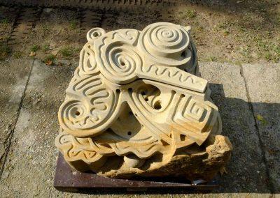 Murmelskulptur aus Sandstein