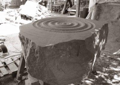 Der Quellstein in der Herstellung