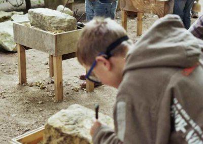 Sandsteinprojekt mit Kindern der 3.Klasse
