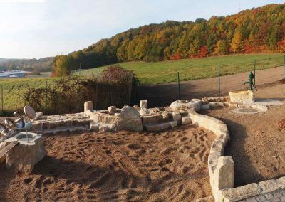 Bau einer naturnahen Wasserspielanlage für eine Kindertageseinrichtung